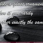 friendship is like a glass ornament