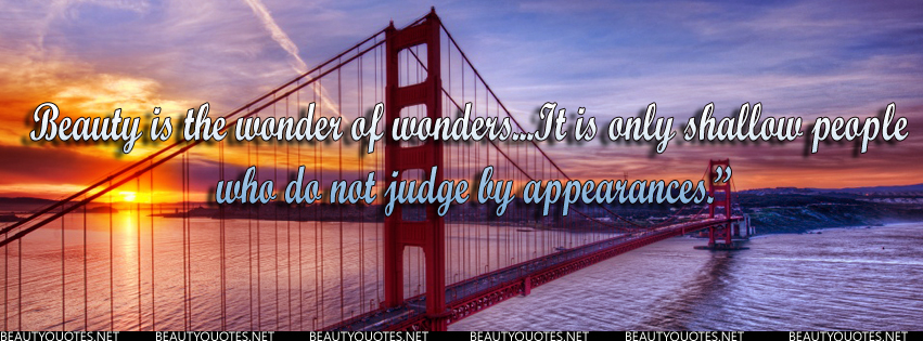 Who do not judge by appearances